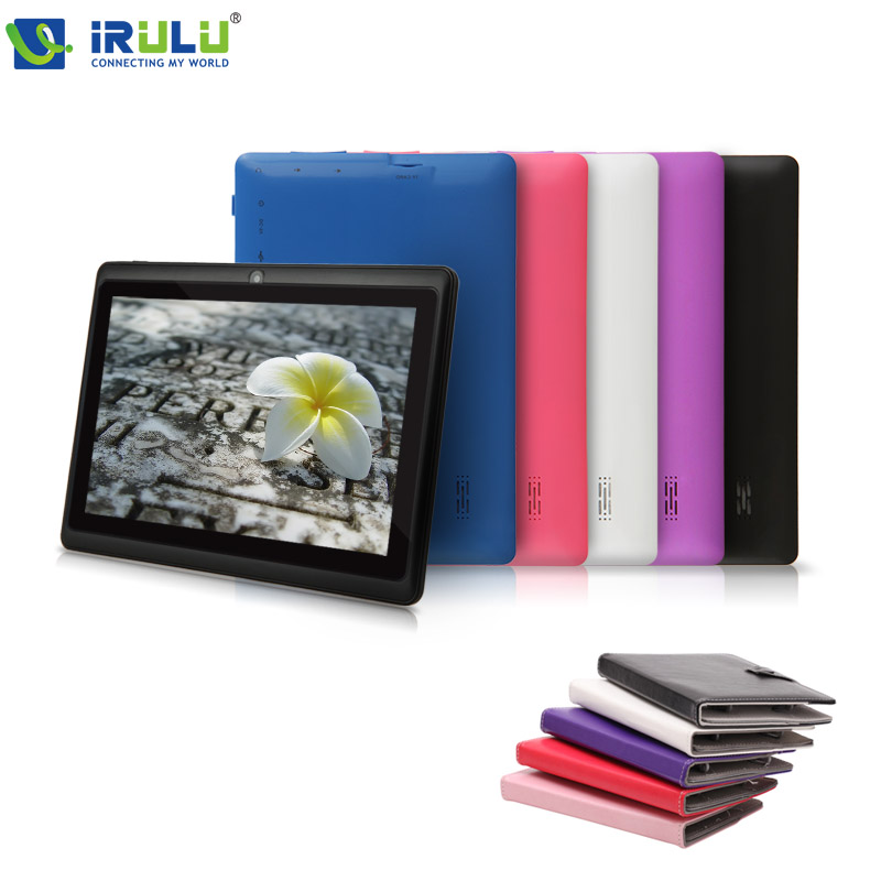 iRULU eXpro 7'' Tablet Allwinner Android 4.4 Quad Core Tablet 8GB ROM Dual Cam WiFi TF card OTG with colorful cases HOT Seller irulu expro x1 7 tablet allwinner quad