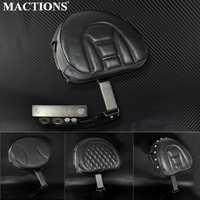 Motorcycle Leather Plug In Driver Rider Seat Backrest Kit Adjustable PU Leather For Harley Fatboy Softail 2007 2015 2016 2017