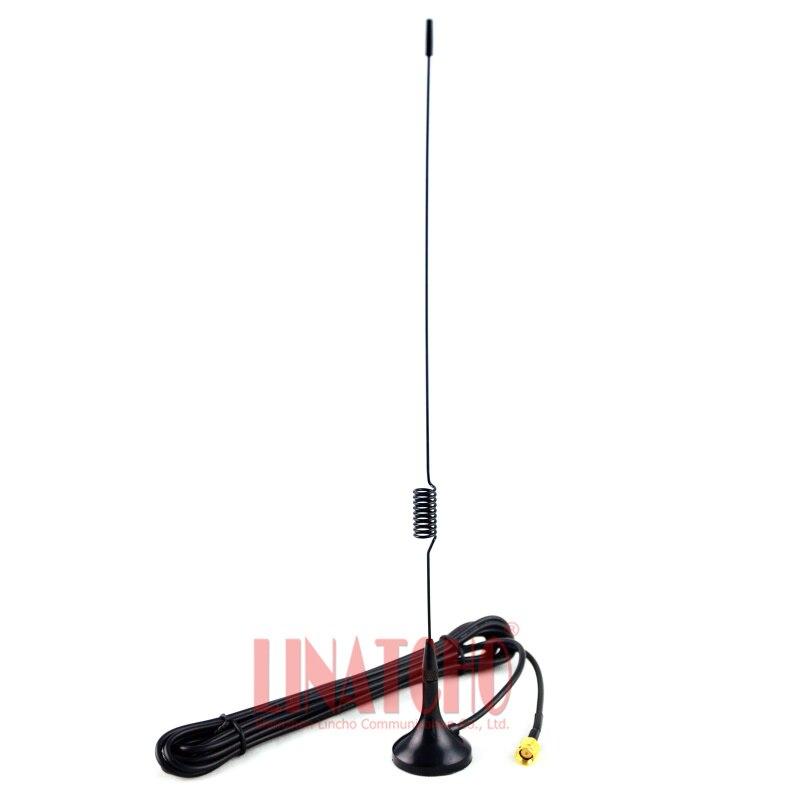 Dual band UT102 VX-3R VX-5R VX-7R FT-60R walkie talkie radio rg174 3 meter sma männlichen sucker antenne