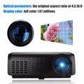 Venda quente! Excelvan E07 Mini LED Projetor LCD Home Theater AV/USB/VGA/HDMI // TF 640*480 projetor, Projetor 100 Lumen Com Playbac