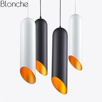 Modern Tom Dixon Led Pipe Pendant Lights Cylinder Aluminum Hanging Lamp Dining Room Light Fixtures Industrial Decor Luminaire