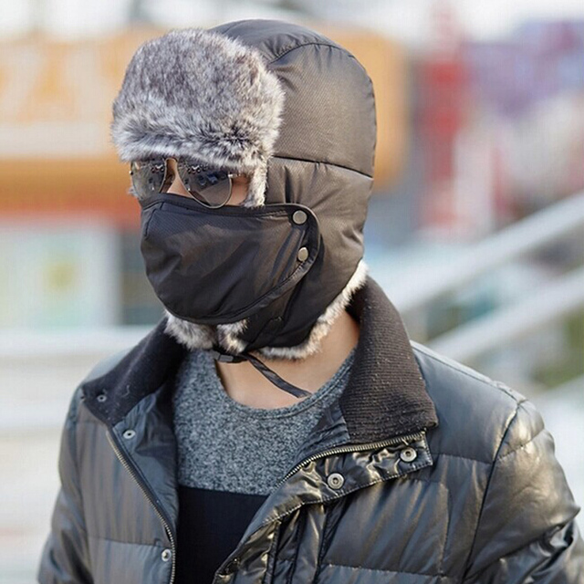 79f1b2c765c41 Korean version of the influx of new men s winter ski hat women outdoor  thickened ear cap winter hat combo fashion brand hats