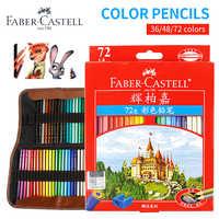 Juego de lápices de colores Faber-Castell 36/48/72 pintura profesional juego de lápiz aceitoso para dibujar bocetos de pintura suministros de arte