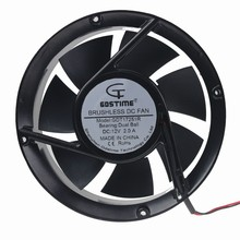 1 Piece Gdstime DC Dual Ball Bearing Inverter Brushless Cooling Fan 170mm 12V 17251 free delivery rg17251b220h 220v 0 22a 17cm 17251 cooling fan