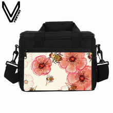 VEEVANV Thermal Lunch Bags Watercolour Girls School Lunch Box Insulated Picnic Cooler Bags Women Portable Food Storage Container