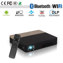 CAIWEI Pocket Portable 3D Movie DLP Projector 1080p WiFi Bluetooth Airplay Video Smart Proyector for Smartphone PC Digital TV