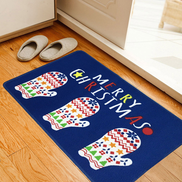 Free Shipping Cartoon Christmas printing floor mats living room kitchen door mats foyer bedroom bathroom anti  sc 1 st  AliExpress.com & Free Shipping Cartoon Christmas printing floor mats living room ...