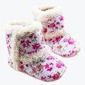 Invierno del bebé zapatos de bebé zapatos de la muchacha hermosa flor zapatos del niño del bebé niñas botas cálidas zapatos infantiles niñas