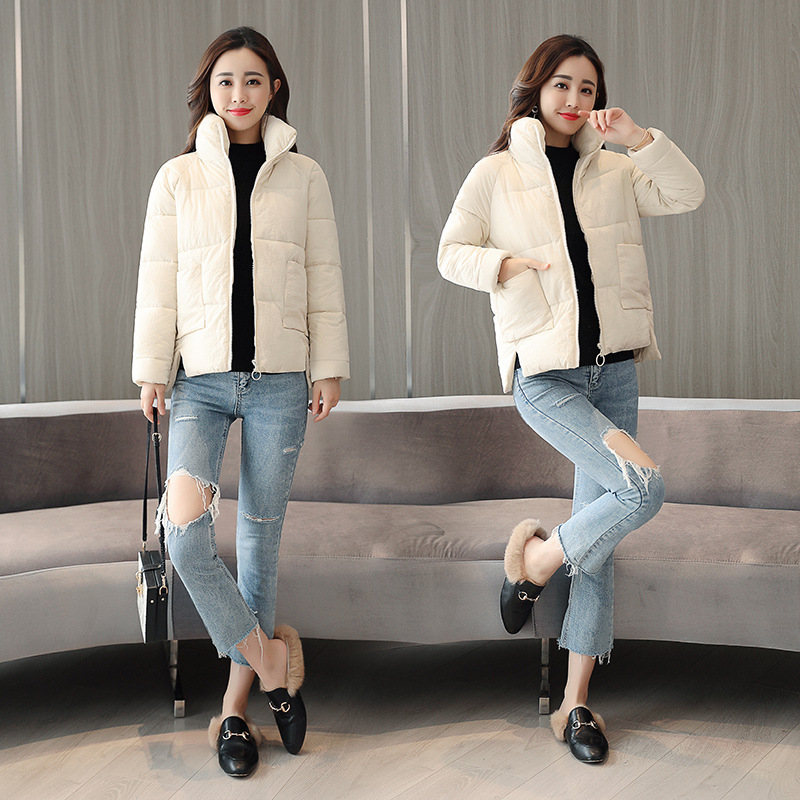 Cotton women short section thick Korean version of the bread service winter down cotton clothing wild ladies cotton jacket in Parkas from Women 39 s Clothing