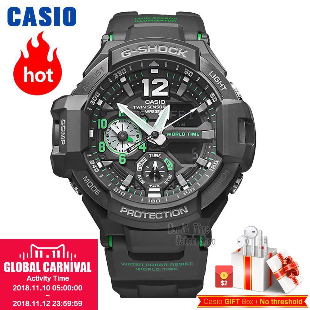 Casio watch Casual sports multi-functional waterproof men's fashion watch GA-1100-1A GA-1100-1A3 GA-1100-2A GA-1100-2B 1100