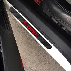 Image 5 - 4 個防水カーボンファイバーステッカー保護オペルアストラhグラムj記章mokkaためzafira corsa opc車アクセサリー自動車