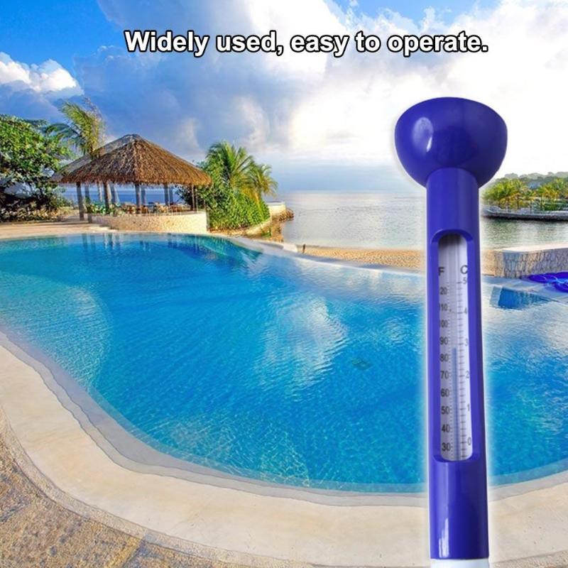 Baby Bath Swimming Floating Water Thermometer Toy Outdoor Swimming Pool Thermometer Baby Bathing Shape White Blue High Quality