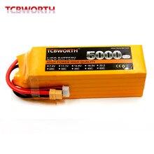 TCBWORTH 6S 22.2V 5000mAh 25C RC Toys LiPo battery For RC Helicopter Quadrotor Airplane AKKU Drone Car Truck Li-ion battery