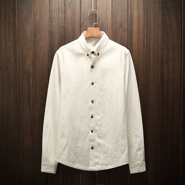 Linnen Overhemd Wit.Nieuwe 2017 Wit Linnen Overhemd Mannelijke Lente En Zomer Dunne