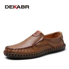 Deslizamiento Estilo DEKABR Marca 2017 de Moda de Verano Zapatos de Los Hombres de alta Calidad de Los Hombres Zapatos Casuales Zapatos Cómodos de Lujo Hecho A Mano de Coser Zapatos hombres