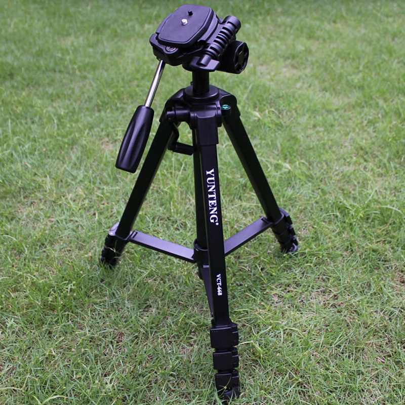 Professional YUNTENG Camera Tripod VCT-668  With Damping Head Fluid Pan For SLR/DSLR Canon Nikon +Carrying Bag
