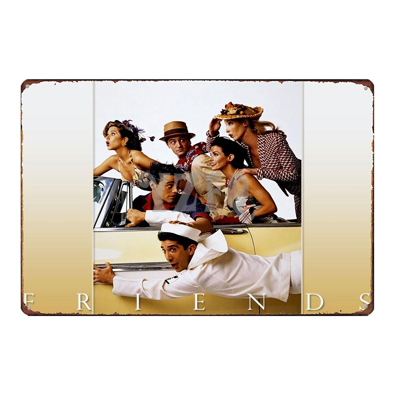 Friends Classic TV Tin Sign Metal Plate Iron Painting Wall Music Bar Ktv Coffee Home Art Decor 30X20CM DU 2693 in Plaques Signs from Home Garden