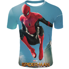 2019 Hot 3d Spider-Man Far From Home mens T-shirt summer harajuku Tee Marvel casual shirt Super hero streetwear