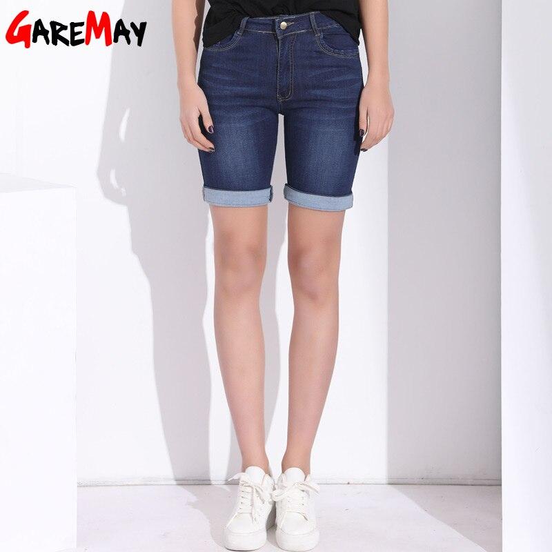 GAREMAY High Waist   Shorts   Women Denim Summer   Short   Jeans Plus Size Stretch Cotton Casual   Short   Femme   Shorts   For Women Clothing