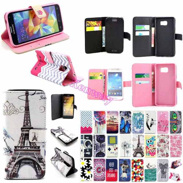 For Huawei P8Lite ALE-L21 Cases Elegant Art Print Wallet PU Leather Book Flip Movie Stand Covers For Huawei P8 Lite Full Housing