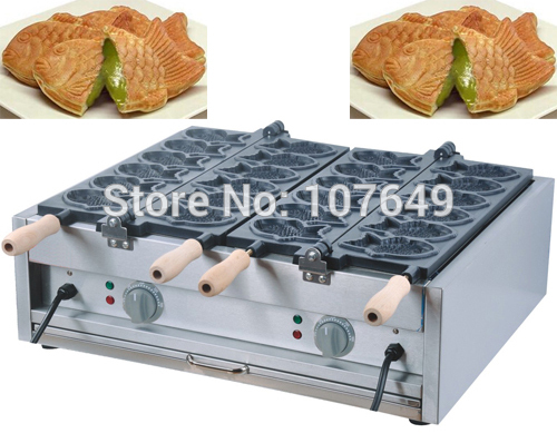 Free Shipping to USA/Canada/Japan/Mexico 12pcs Commercial 110v Electric Japanese Taiyaki Fish Waffle Baker Maker Iron Machine donut making frying machine with electric motor free shipping to us canada europe