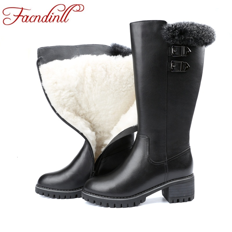 FACNDINLL women knee high boots shoes genuine leather fashion high heels black zipper platform shoes woman winter snow boots fedonas top quality winter ankle boots women platform high heels genuine leather shoes woman warm plush snow motorcycle boots