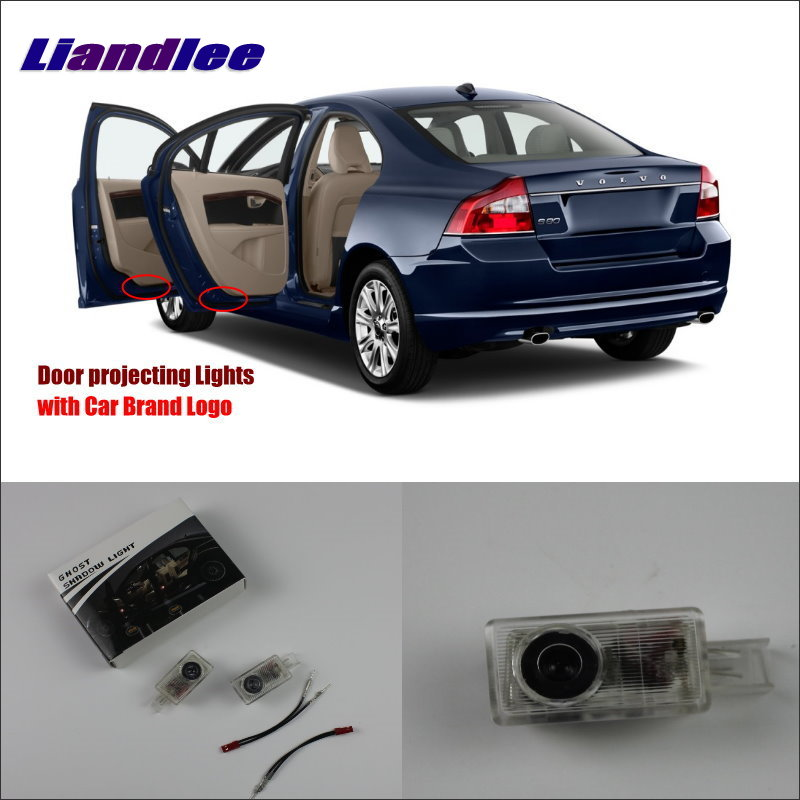 Liandlee Car Door Ghost Shadow Lights For Volvo S80L 2012 2014 Courtesy Doors Lamp Brand Logo Led Projector Welcome Light in Signal Lamp from Automobiles Motorcycles