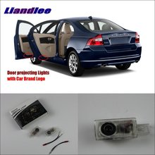Liandlee Car Door Ghost Shadow Lights For Volvo S80L 2012~2014 Courtesy Doors Lamp / Brand Logo Led Projector Welcome Light 2x canbus led car door logo welcome light ghost shadow projection emblem lights for seat alhambra n7 2011 2012 2013 2014