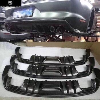 Z włókna węglowego dyfuzor tylnego zderzaka dla Ford Mustang zestaw do nadwozia samochodu 15-17