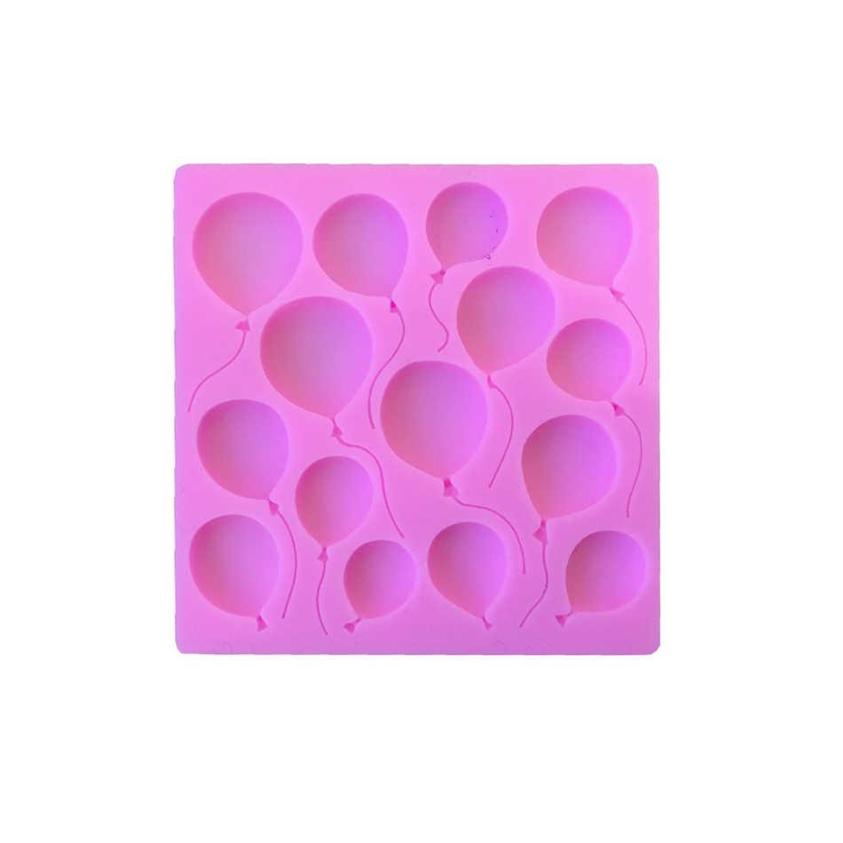 TTLIFE บอลลูนเค้กซิลิโคนแม่พิมพ์วันเกิด Fondant เค้กตกแต่ง DIY เครื่องมือ Gumpaste ช็อกโกแลต Cupcake Candy Clay Mold
