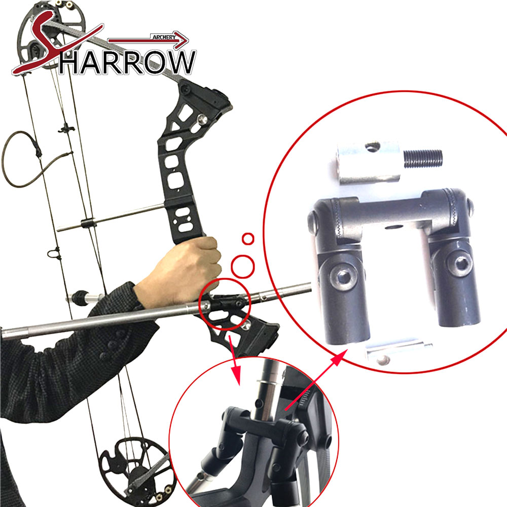 Bow Archery Quick Disconnect Damping Rod Shock Absorber Stabilizer Carbon Adjustable Double Sided Disconnect V-bar dmar recurve bow archery stabilizer balance rod v bar damping rod shock absorber bow hunting accessories