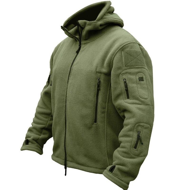 Зимняя Военная униформа, одежда, флисовая куртка, Мужская тактическая термо дышащая куртка с капюшоном, армейская камуфляжная верхняя одеж...