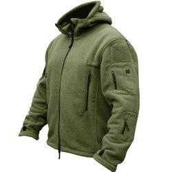 Зимняя Военная униформа одежда флисовая куртка мужская тактическая Тепловая дышащая куртка с капюшоном армейская камуфляжная верхняя оде...