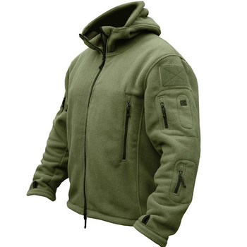 Winter Military Uniform Clothes Softshell Jacket Men Tactical Thermal Breathable Hooded Coat Army Camo  Outerwear men camo print hooded jacket