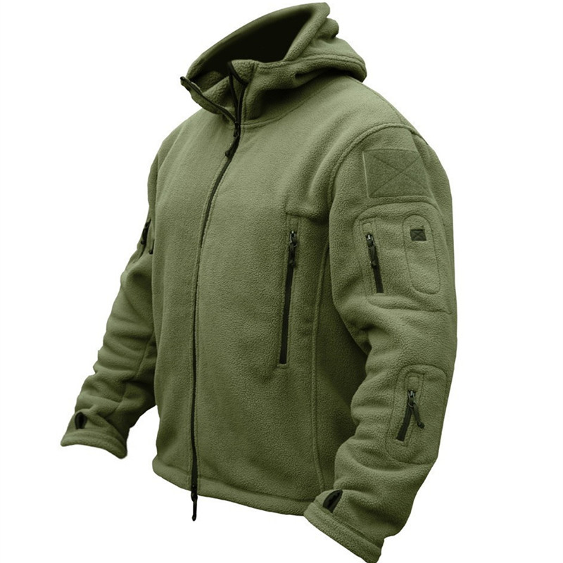 Winter Military Uniform Clothes Softshell Jacket Men Tactical Thermal Breathable Hooded Coat Army Camo Outerwear image