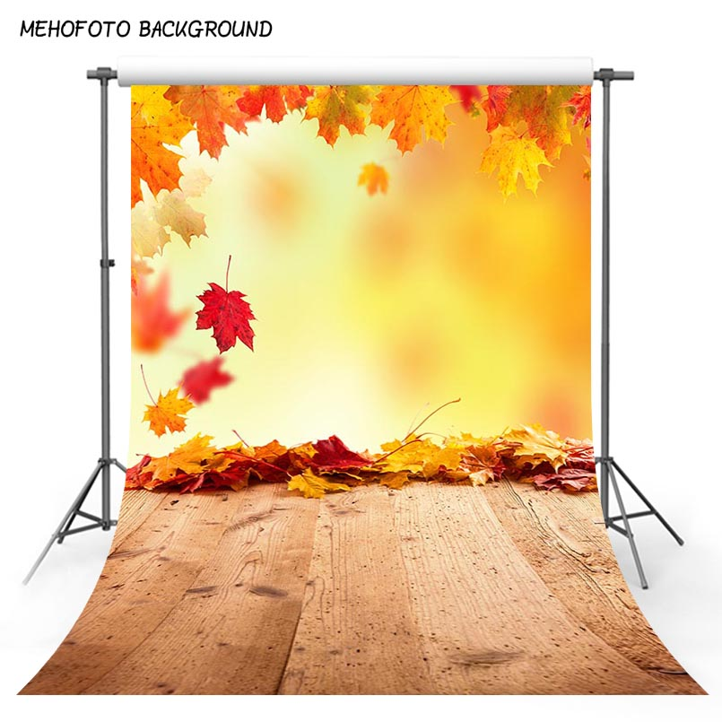 Fall Photo Maple Leaf Booth Photography Backdrops Photo Backgrounds Wood Floor Baby backdrop Newborn Child studio props S-3136 kate newborn baby backgrounds fotografia light wood wall fundo fotografico madeira old wooden floor backdrops for photo studio