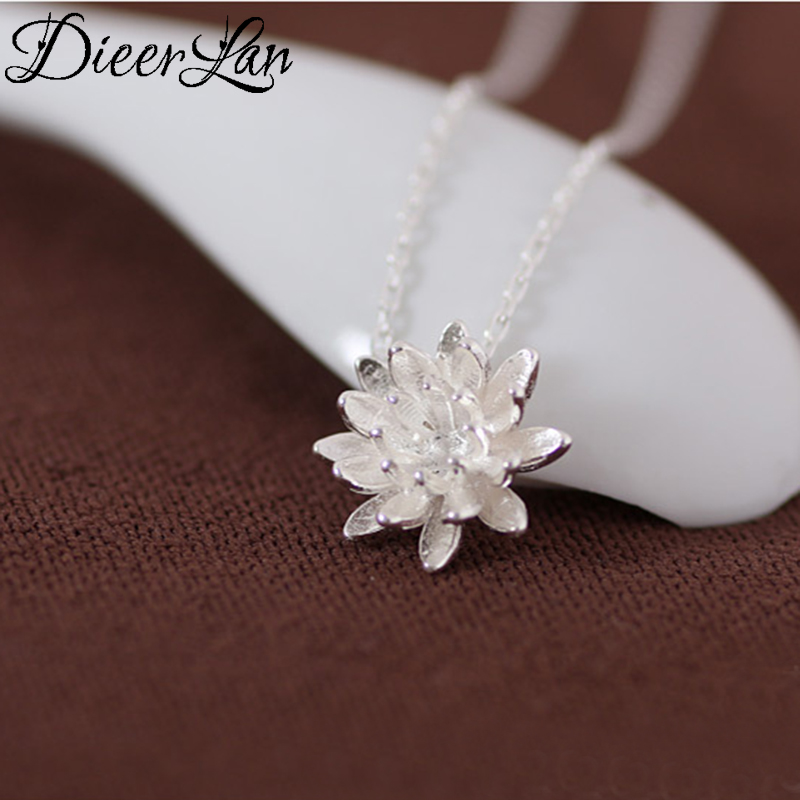 New Arrivals 925 Sterling Silver Lotus Flower Necklaces & Pendants For Women Fashion sterling-silver-jewelryNew Arrivals 925 Sterling Silver Lotus Flower Necklaces & Pendants For Women Fashion sterling-silver-jewelry