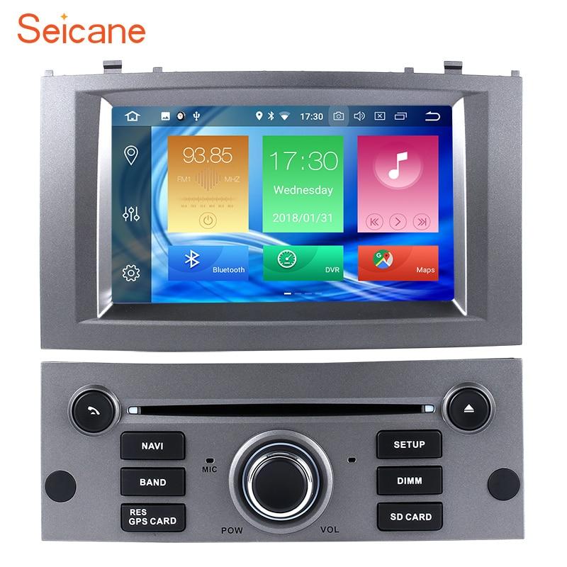 Seicane Android 8,0 7 Din coche Radio GPS sistema de navegación reproductor Multimedia para Peugeot 407, 2004, 2005, 2006 2007, 2008, 2009,