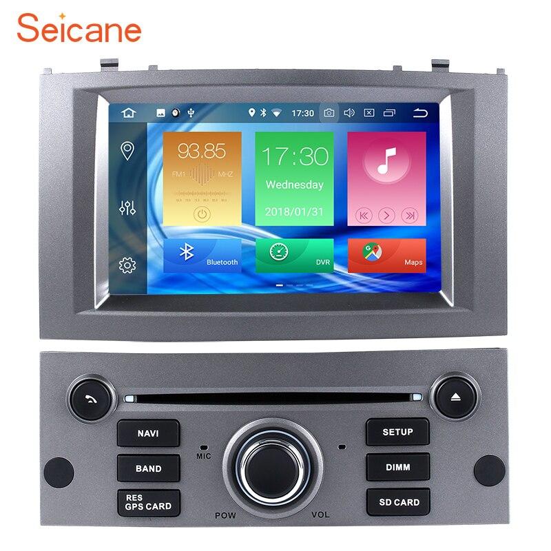 Seicane Android 8.0 7 Un Din Voiture Radio GPS Système de Navigation Multimédia Lecteur Pour Peugeot 407 2004 2005 2006 2007 2008 2009
