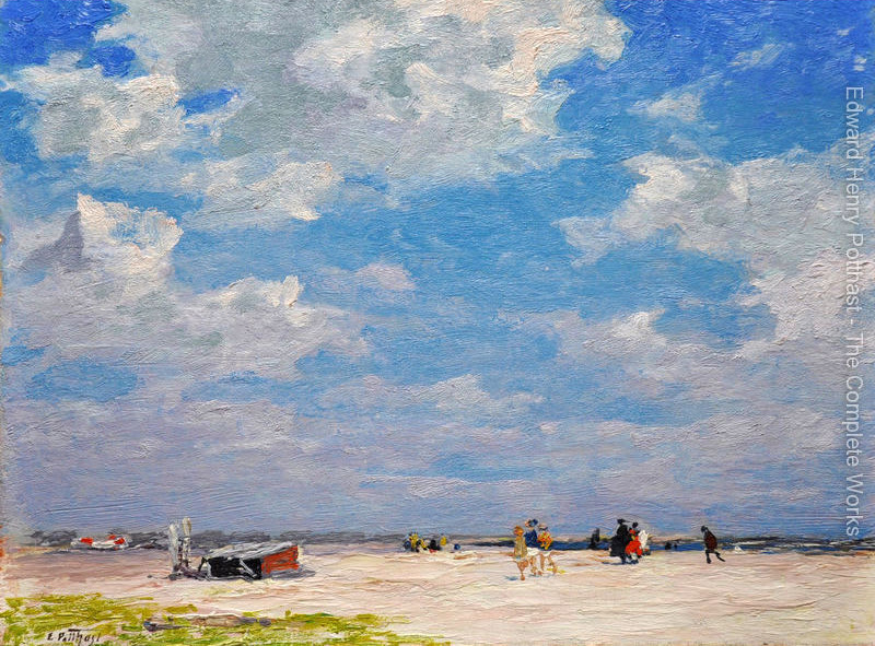 Landcape oil painting Beach Scene Edward Henry Potthast Painting High quality Hand painted Landscape Art Home Decor