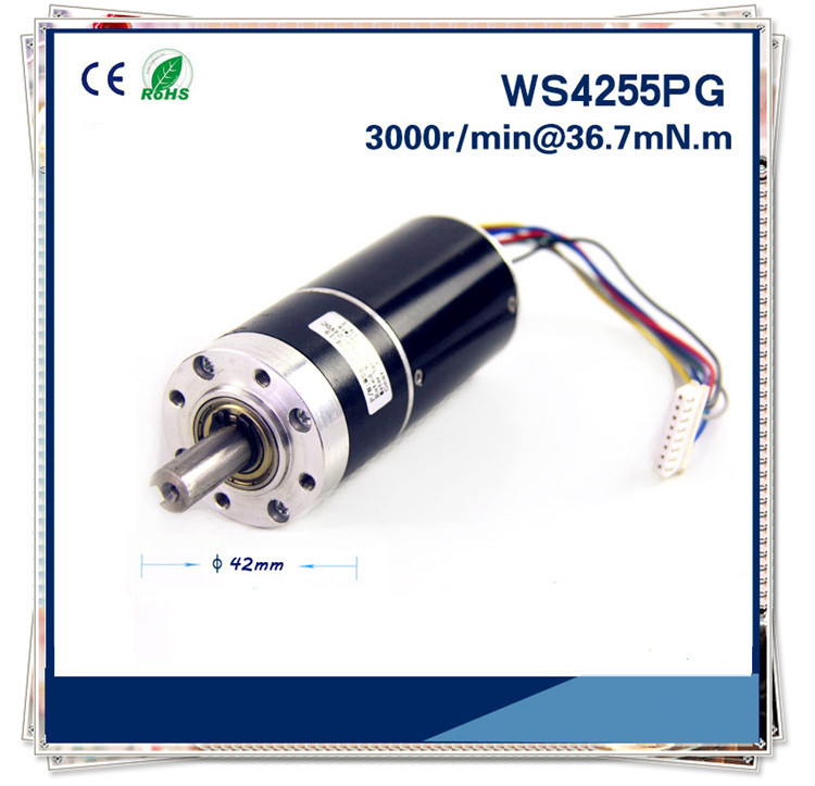12v or 24v 42mm DC Gear Motor Customized micro brushless dc planetary gear reduction motor Gear box motor 13000rpm 73w 24v 3 33a 42mm 55mm 3 phase hall brushless dc micro motor high speed dc motor for fan air pump or gear box