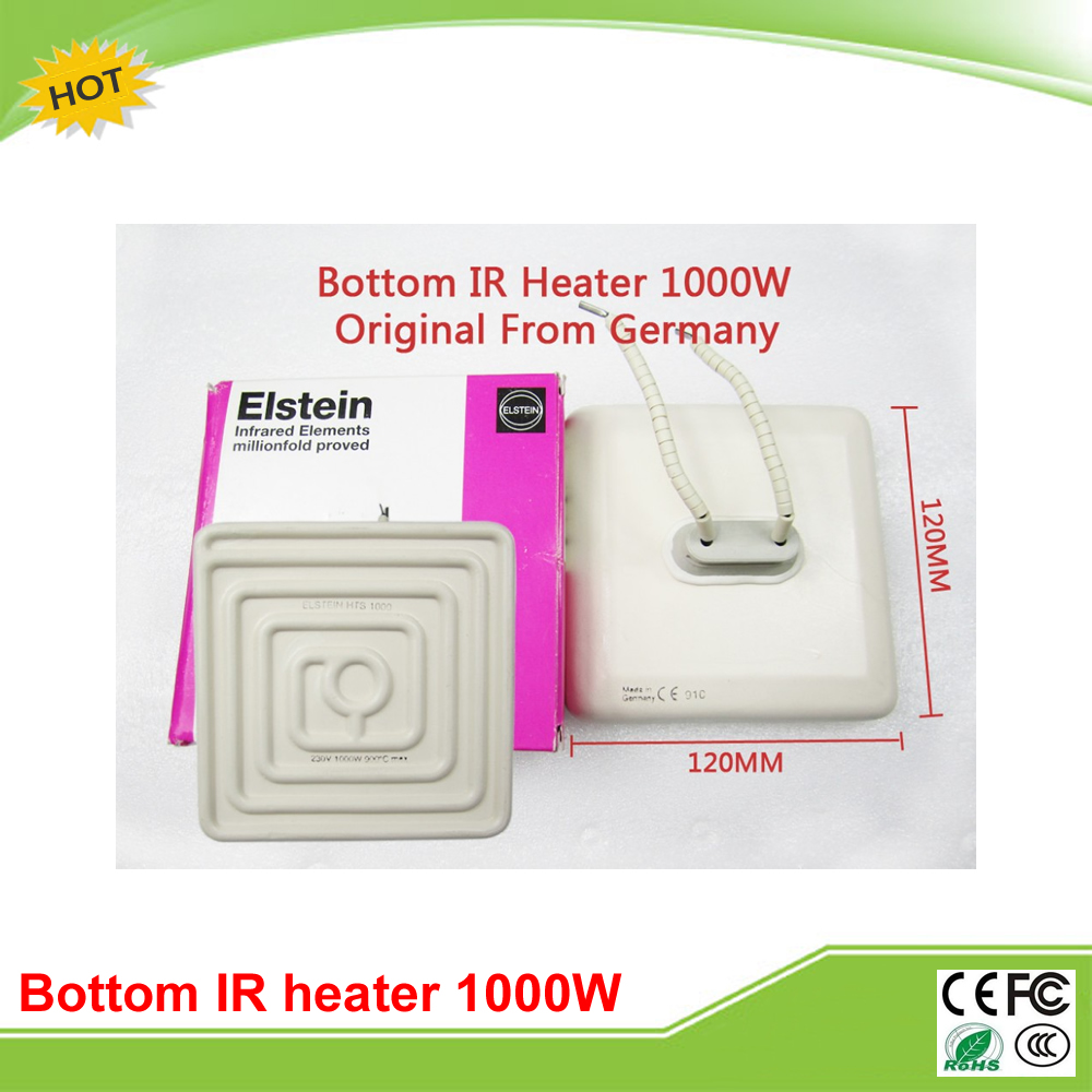 220V 1000W original German Elstein ceramic heating plate 120mm*120mm for BGA station IR9000 220V 2x 220v ir4025 ir4035 ir4045 ir4051 ir4225 ir4235 ceramic heating element compatible for canon ir advance 4025 4035 4045 4051