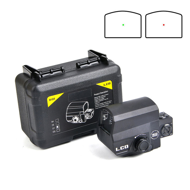 Dropshipping  LCO Tactical Red Dot Sight Rifle Scope Hunting Scopes Reflex Sight With 20mm Rail Mount Holographic Sight