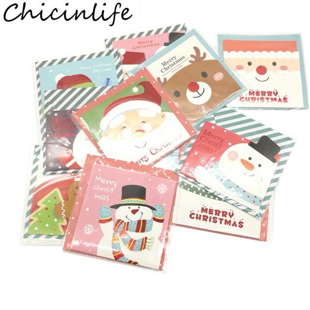 Chicinlife 16pcs Lot Merry Christmas Small Santa Elk Snowman Claus