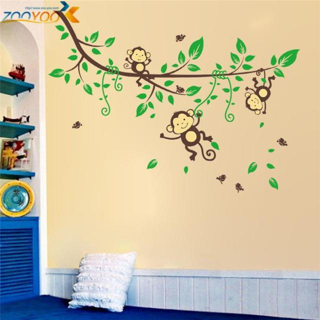 hot selling monkey wall stickers for kids room home decorations ...