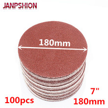 JANPSHION 100pcs 7 180mm Peel & Stick Sandpaper Sanding Disc for Sander with Grit 60 80 120 180 240 320 400 600 800 1000 1200