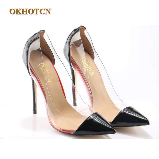 71c54fb06f6ab8 Fashion Lady Pumps Luxury PVC Designer Clear Transparent High Heels Shoes  Women Pointy Stiletto-Heeled Party Shoes Zapatos Mujer