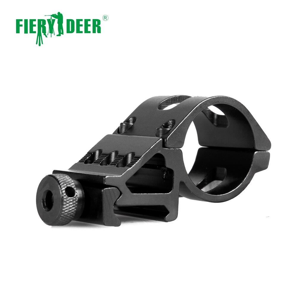 Cerf de feu 45 degrés 1 pouce 30mm anneau décalé lampe de poche torche Laser monture fusil portée tisserand 20mm Picatinny Rail