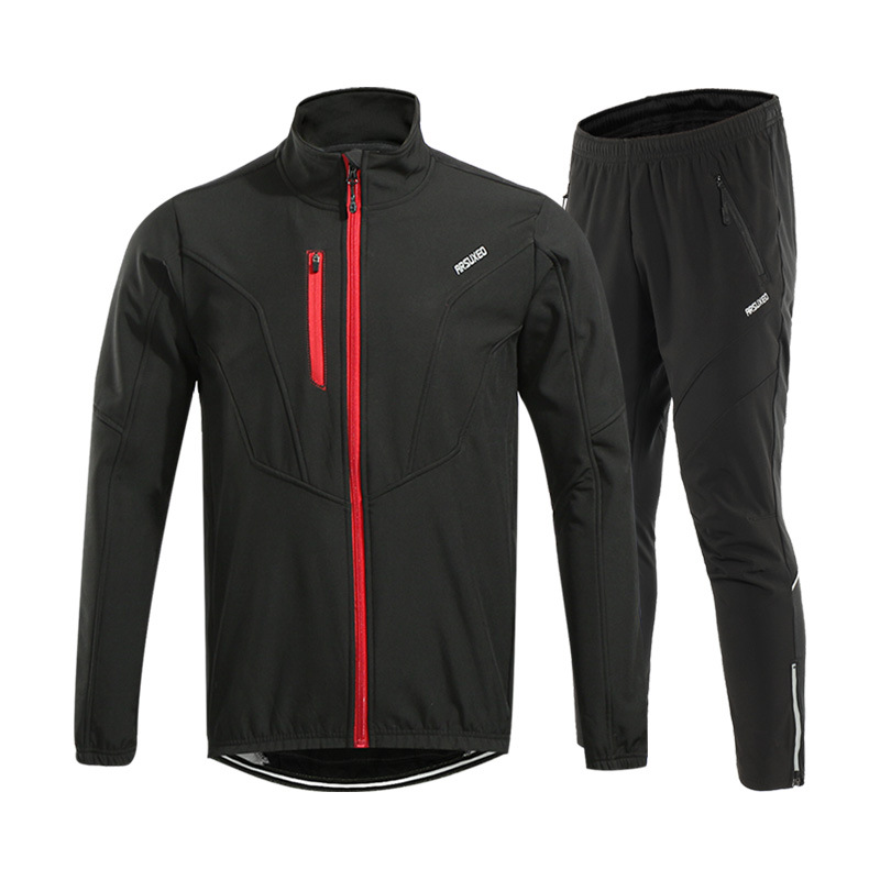 4 Colors Winter Cycling Jacket Set Warm Up Fleece MTB Bike Bicycle Jacket Pants Suit Windproof