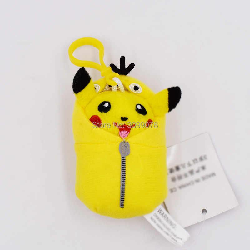8-10 см Pikachu Косплей Eevee Jolteon Magikarp Togepi belgrle Gengar Ditto Psyduck подвеска брелок кулон Мягкие плюшевые игрушки
